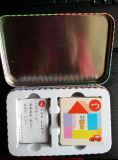 Japón embroma tarjetas que juegan del juego de Edcation con el rectángulo del estaño