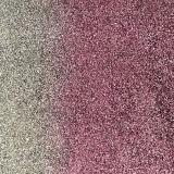 Couro dobro do plutônio do Glitter das cores para as sapatas (E6072)