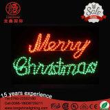 Luz montada LED de la Feliz Navidad del adorno de poste para la decoración de Wall Street