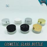 бутылка малого круглого косметического стеклянного Cream опарника 5ml стеклянная