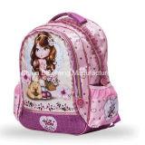 Backpack девушки способа пинка мешка школы плеча сатинировки