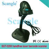 Sgt-3208 de draagbare Scanner van de Streepjescode van de Laser Handfree met Steun