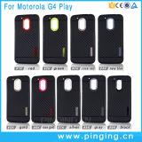 Carbono suave caja de la fibra de teléfono para Motorola Moto G4 Juego