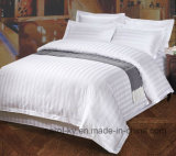 Het Katoen 300tc 1cm van 100% Linnen van het Bed van het Hotel van het Hotel van de Streep het Textiel