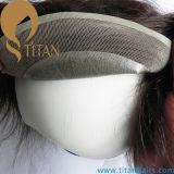 Melhor sistema de cabelo humano Remy Mens Mono Toupee