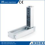 4 Baugruppen-Schreibtisch-Kontaktbuchse-Aluminiumlegierung-Netzdose