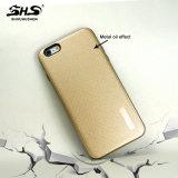 Shs ha sollevato la superficie con la cassa ibrida del telefono di effetto dell'olio del metallo per il iPhone 6