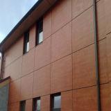 Revestimento de madeira decorativo Uv-Resistente da parede do painel da grão HPL
