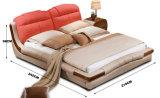 新しく優雅なデザイン寝室のための現代本革のベッド(HC901)