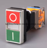 Dia22mm-La118mls 누름단추식 전쟁 스위치, 검정, 빨강, 녹색, 황색, 파랑, 백색 색깔