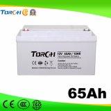 Baterías del gel de la batería de plomo 12V 65ah VRLA de la capacidad plena