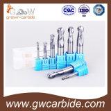 Ferramentas do revestimento do moinho de extremidade HRC do carboneto de tungstênio 45-55 Tiain