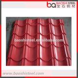 Azulejo de material para techos coloreado decorativo acanalado de acero del metal de Baoshi
