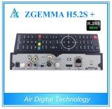 Sinal de adição triplo de Receiver&Decoder Zgemma H5.2s do satélite/cabo dos afinadores Hevc/H. 265 de DVB-S2+DVB-S2/S2X/T2/C para as canaletas de Multistream em Europa