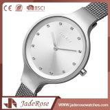 Form-Edelstahl-weiße Quarz-Uhr mit 30m wasserdicht
