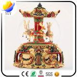 Glückliche Zeit-reizende rotierende hölzerne Spieluhr für Dekoration
