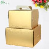 Rectángulos de empaquetado de papel del oro brillante para la torta de cumpleaños (KG-PX083)