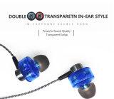 Dentro - trasduttore auricolare dinamico stereo dell'orecchio