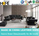 Caliente-Vendiendo el sofá casero moderno del cuero del negro de la sala de estar (HC3010)