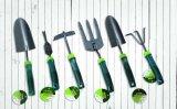 Herramientas de jardín Acero galvanizado hoja de Ajustable Rastrillo con mango de aluminio ajustable