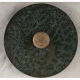 Potenciômetro de flor azul antigo do jardim do metal