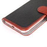 De tweede Leather+PU Gevouwen Gevallen van de Telefoon voor iPhone 6/6s/6p/7/7s/7p
