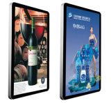 Vídeo del panel de visualización del LCD de 75 pulgadas que hace publicidad del jugador, señalización de Digitaces