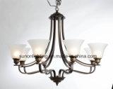 Indicatore luminoso decorativo dell'interno del lampadario a bracci del globo di vetro floreale moderno dello schermo