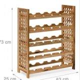 Estilo robusto de madera encantador de la cabaña del sostenedor de botella del estante del vino de la nuez horizontalmente