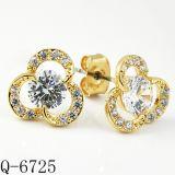 Hotsale 보석 다이아몬드 귀걸이 은 925