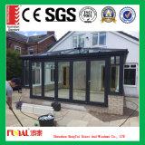 Puerta de aluminio del marco de la mejor calidad con el satinado aislado