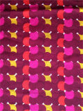 Напечатанный Cdc шелка Spandex в цветастых многоточиях