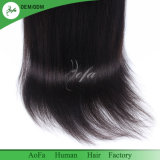 New Fashion Yaki Straight Remy Cheveux humains perruque avant en dentelle