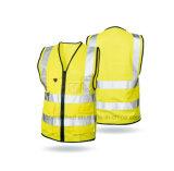 Veste reflexiva por atacado amarela da segurança