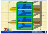 Ponticello competitivo del Singolo-Libro macchina gonfiabile per il campo da giuoco