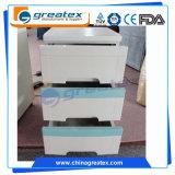 Hospital ao lado do gabinete, gabinetes de armazenamento plásticos do ABS com as três gavetas para a venda (GT-TA100)