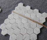 Fait dans la tuile de marbre blanche neuve de salle de bains de mosaïque de la Chine Carrare