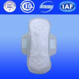 Garniture sanitaire de serviette hygiénique d'anion de coton avec l'absorptivité élevée