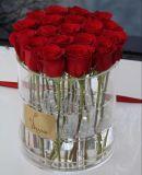 ローズのアクリルの花ボックス、チューリップボックスを包む円形の花ボックス