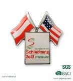 Значок эмблемы Pin национального флага, значок флага