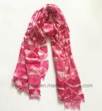 Zachte Geometic drukte Roze Viscose af Dame Scarf (HWBVS24)