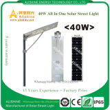 Lámpara LED 40W integrada Lámpara solar con panel solar