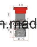 22mm de Schakelaar van de Drukknop van het Type van Paddestoel met CB/CCC