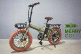 2017 la bici plegable última y aumentada del neumático gordo eléctrico de 48V 500W
