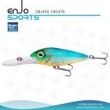 Señuelo plástico selecto de los trastos de pesca del salto profundo del pescador con Vmc los ganchos de leva agudos (CB1470)
