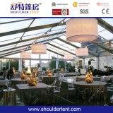 tienda del partido de los 50m para el acontecimiento con la decoración/el vector/la silla/la iluminación