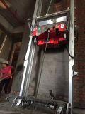 機械を塗る建築現場の電気壁