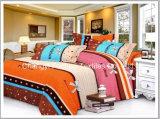 Conjunto barato colorido del lecho de la materia textil de China Suppiler del gemelo de la talla de la cubierta casera del Duvet