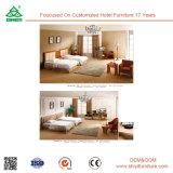 Jogo de quarto europeu do estilo da mobília moderna do quarto da madeira contínua da mobília do quarto do hotel