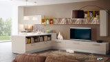 2017熱い販売法の壁TVのキャビネットの単位デザイン